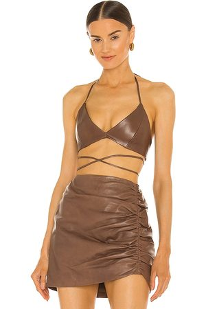 LaMarque X REVOLVE Melka Top in Chocolate. - size L (also in M, S, XS)