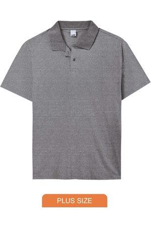 Malwee Plus Camisa Mescla Escuro Polo Tradicional em Malha