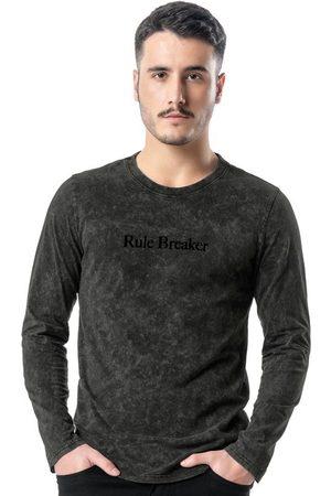 ENFIM Homem Camisolas de Manga Curta - Camiseta Preta Slim Cationizado