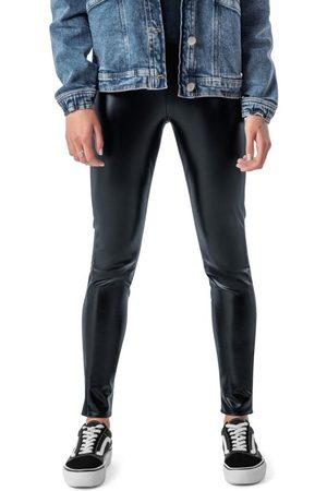 ENFIM Mulher Calça Legging - Calça Preta Legging Resinada
