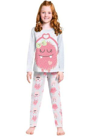 Kyly Menina Pijamas - Pijama Infantil Feminino Mescla