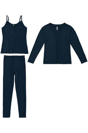Malwee Conjunto e Pijama Marinho em Ribana Conforto