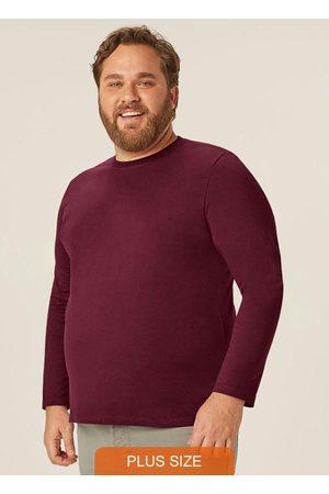 Wee Malwee Homem Camisolas de Manga Curta - Camiseta Bordô Tradicional em Meia Malha