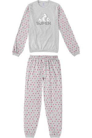 Malwee Mulher Pijamas - Pijama Mescla Super Mãe em Malha