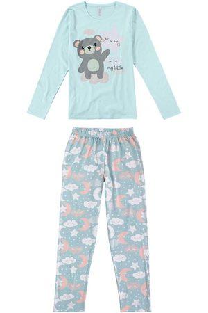 Malwee Mulher Pijamas - Pijama Urso Adulto em Malha Mãe
