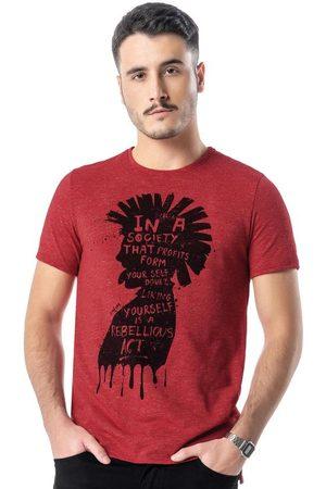 Enfim Camiseta Vermelha Punk Slim