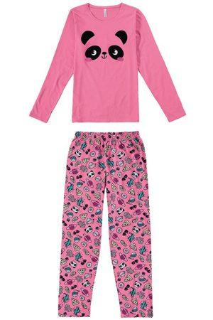 Malwee Pijama Panda Adulto em Malha Mãe