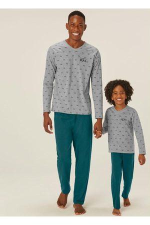 Malwee Homem Pijamas - Pijama Mescla Vespa Super Pai