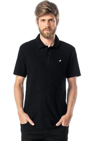 ENFIM Homem Camisa Formal - Camisa Preta Polo Slim Bordada