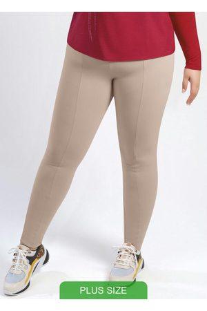 Cativa Plus Size Calça Estilo Legging em Elástico Nude