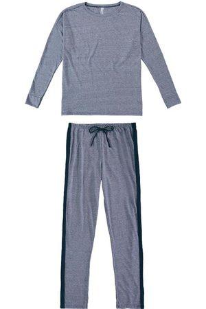 Malwee Pijama Marinho em Malha Mescla
