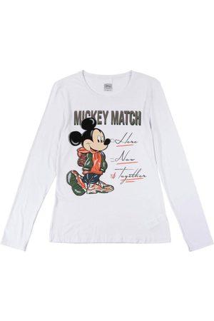 Disney Blusa Manga Longa em Viscose