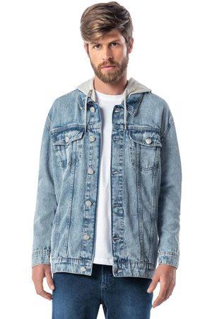 ENFIM Jaqueta Claro Jeans com Capuz