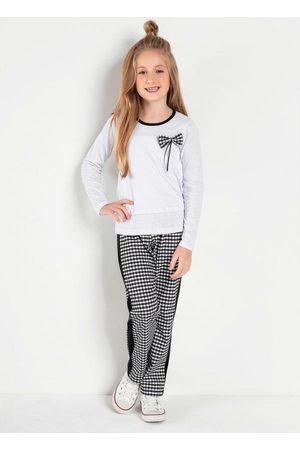 Kolormagic Menina Sets - Conjunto Infantil Quadriculado Blusa e Calça