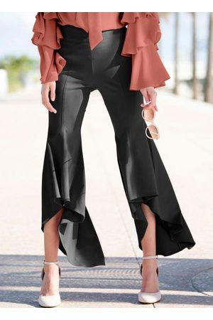 Queima Estoque Mulher Calça Pantalona - Calça Pantacourt com Babados