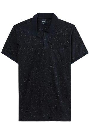 Malwee Homem Camisa Formal - Camisa Preta Polo Slim em Botonê