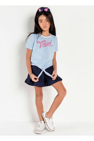 Kolormagic Conjunto Infantil Camiseta e Short Listrado