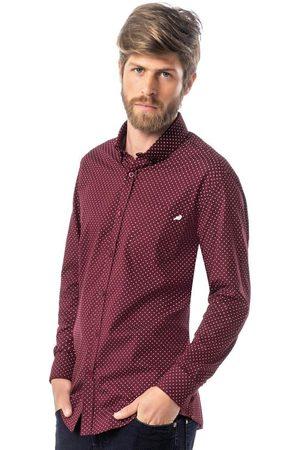 ENFIM Camisa Slim Poá em Tricoline