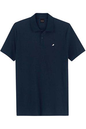 ENFIM Homem Camisa Formal - Camisa Marinho Polo Slim Bordada