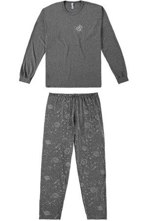 Malwee Pijama Mescla Escuro Universo Masculino