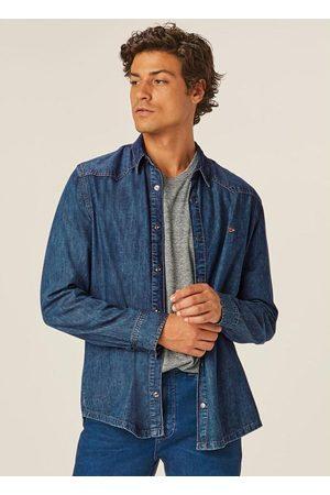 Malwee Camisa Slim em Jeans Leve