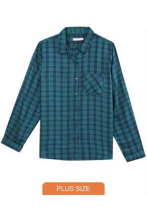 Malwee Plus Camisa Feminina Xadrez Flanelada