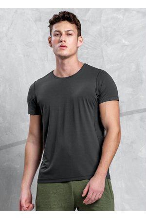 Malwee Homem Camisolas de Manga Curta - Camiseta Chumbo Tradicional Dry