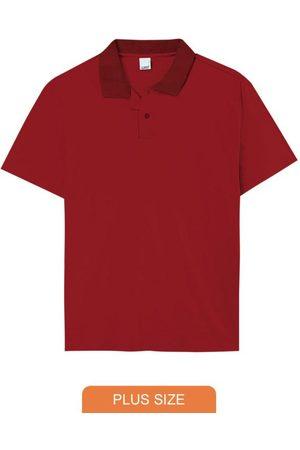 Malwee Plus Camisa Vermelha Polo Tradicional em Malha