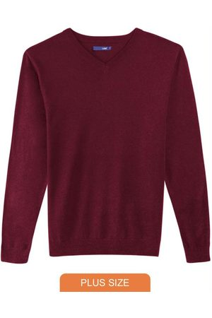 Malwee Plus Blusão Bordô em Tricô Decote V