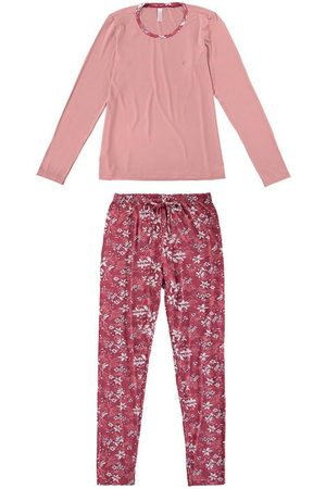 Malwee Pijama Floral em Viscose