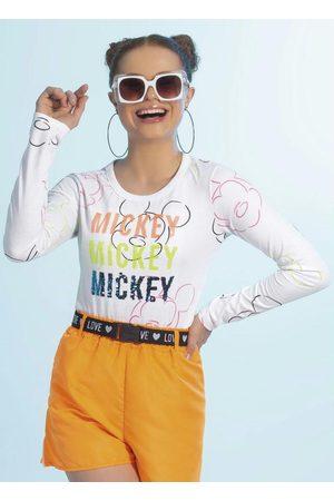 Disney Blusa em Meia Malha Estampada