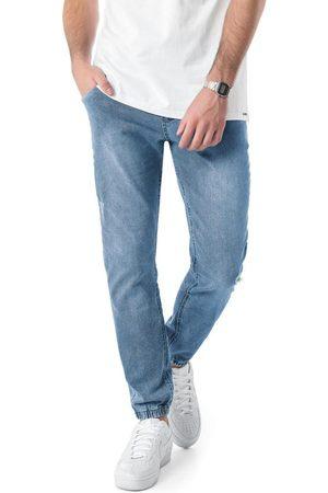 ENFIM Calça Claro Jogger em Malha Jeans