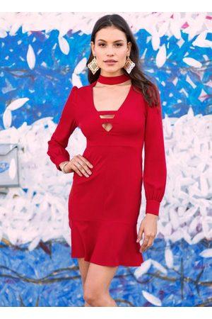 Queima Estoque Mulher Vestidos - Vestido com Decote Vazado