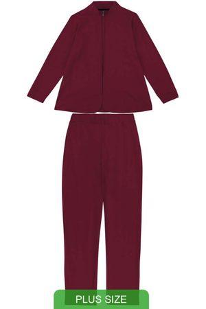 Cativa Plus Size Conjunto com Casaco e Calça