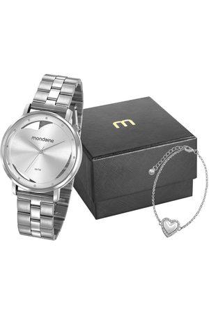 Mondaine Mulher Pulseiras - Kit de Relógio Analógico Feminino + Pulseira - 53748L0MKNE3K1 9638359