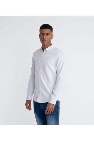 Marfinno Camisa Manga Longa Slim Fio 60 Maquineta Casual | | | G