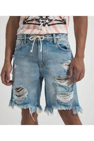 Blue Steel Bermuda Slim Jeans com Rasgos | | | 40