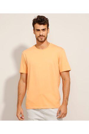 Basics Homem Camisolas de Manga Curta - Camiseta de Algodão Básica Manga Curta Gola Careca Claro
