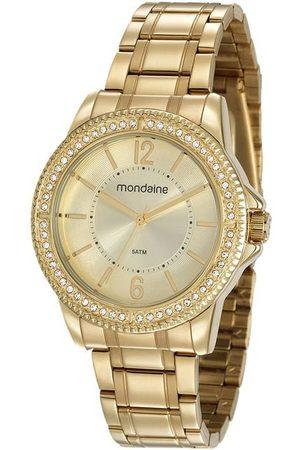 Mondaine Kit Relógio 53601LPMVDE4KB Feminino Analógico 5ATM + Brinde | | Champagne | U