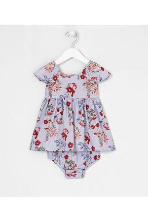 Teddy Boom (0 a 18 meses) Vestido Infantil com Calcinha Estampa Floral - Tam 0 a 18 meses       12-18M