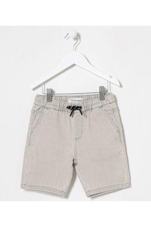 Fuzarka (5 a 14 anos) Bermuda Infantil em Jeans Cós Elástico- Tam 5 a 14 anos     Grey jeans   5-6