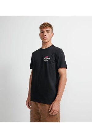 Ripping Homem Camisolas de Manga Curta - Camiseta Manga Curta em Algodão Lettering Surfer | | | M