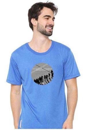 Eco Canyon Homem Camisolas de Manga Curta - Camiseta Masculina Sandro Clothing Moment Blu