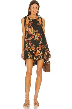 Free People Fleur Printed Tunic in Charcoal. - size L (also in M, S, XS)