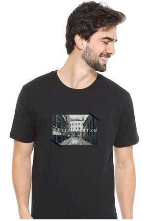 Eco Canyon Homem Camisolas de Manga Curta - Camiseta Masculina Sandro Clothing Memory Bl