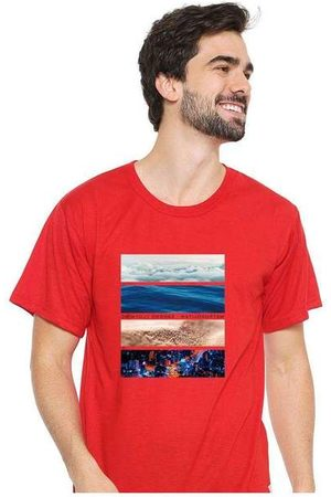 Eco Canyon Homem Camisolas de Manga Curta - Camiseta Masculina Sandro Clothing Life R