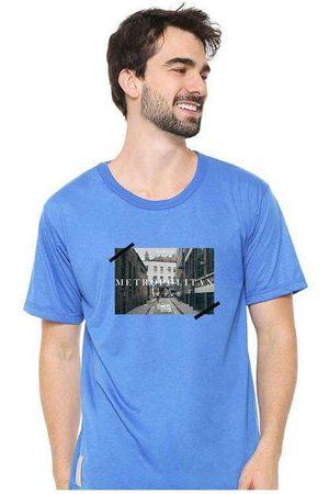 Eco Canyon Homem Camisolas de Manga Curta - Camiseta Masculina Sandro Clothing Memory Blu