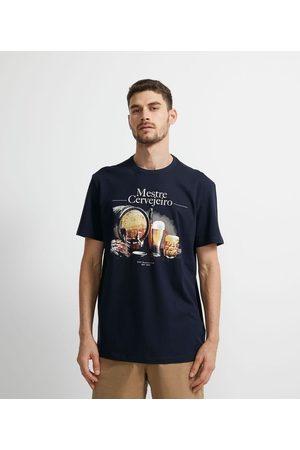 Marfinno Camiseta Manga Curta em Algodão Estampa Mestre Cervejeiro     escuro   EG I