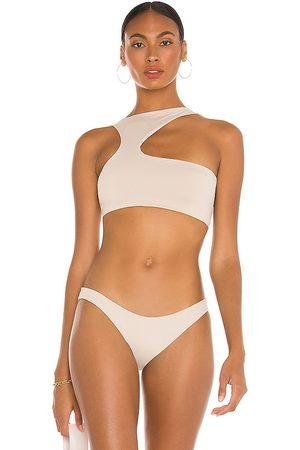 Riot X REVOLVE Vista Bikini Top in Cream. - size L (also in M, S, XS)
