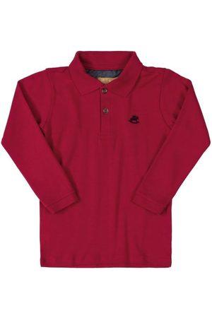 Up Baby Menino Camisa Pólo - Camisa Polo em Suedine